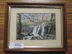 An oil painting, Marion Bradley, Mill Gill Langdale, 7 x 10cm, plus frame and glazed