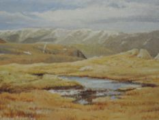 An oil painting on board, Marion Bradley, High Lakeland Pool, signed and attributed verso, 11 x