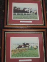 Five photographs, horse racing interest, inc, Northlight Derby 2004, 29 x 25cm, plus frame and