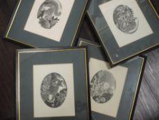 A set of four, Ltd Ed prints, after Geldart, wildlife, signed, all num 48/250, each 18 x 23cm, a Ltd