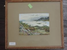 A pair of oil paintings, L Metzger, Lakes landscapes, signed and dated 1953/5, 12 x 17cm, plus frame