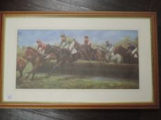 A pair of prints, after Mark Smallman, horse racing interest, signed and dated (19)97, and