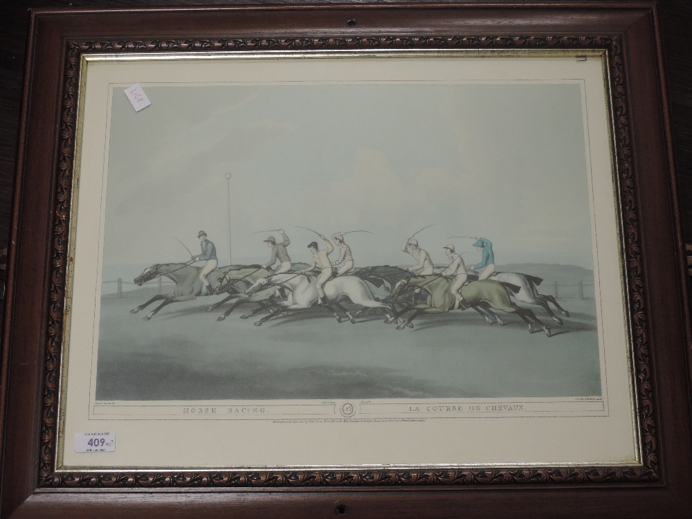 Two re-prints, horse racing interest, 28 x 38cm , and 38 x 48cm, plus frame and glazed - Image 2 of 2