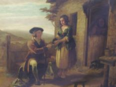 An oil painting, attributed to William Bromley, Scottish croft, 60 x 74cm, plus frame and glazed