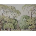A watercolour, Percy Lancaster, Hyde park, 25 x 35cm, plus frame and glazed