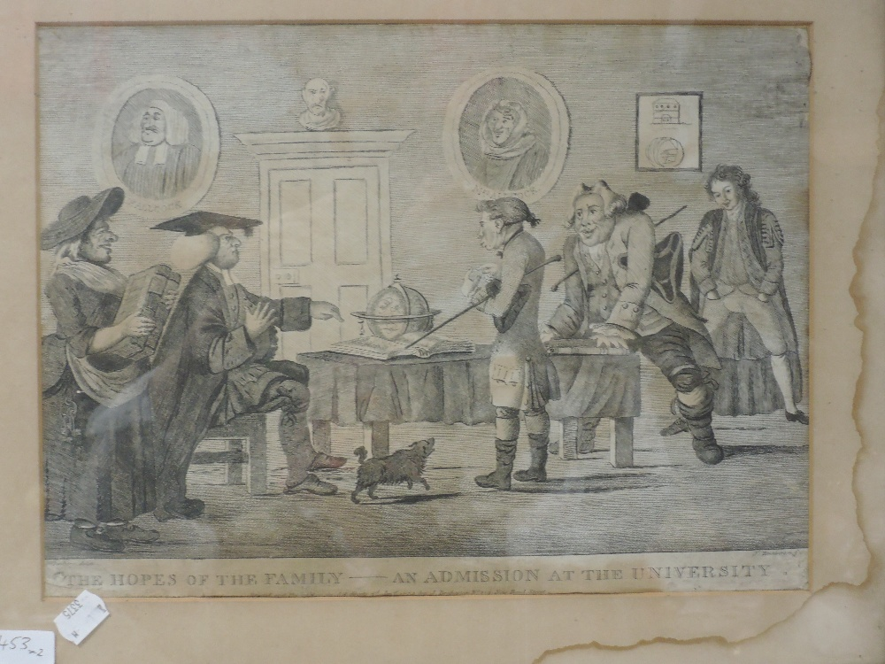 An engraving, after Leich, Savage introduced to Lovell at the Club, C19th, 16 x 10cm, plus frame and - Image 2 of 2