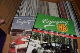 A selection of vintage MG car magazines approx 30