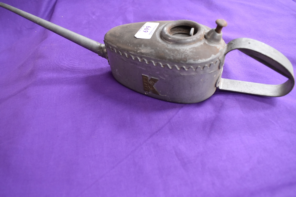 A new old stock Kays large oil can.