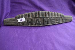 A Thames bonnet badge.