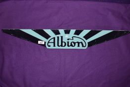 An Albion bus or lorry badge.