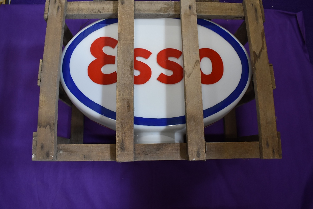 A stunning example of a rare and genuine petrol pump globe for Esso petroleum by S&W lighting ltd in - Image 4 of 7
