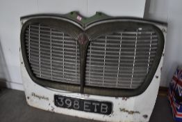 A genuine Bedford Coach Butterfly grill circa 1950's