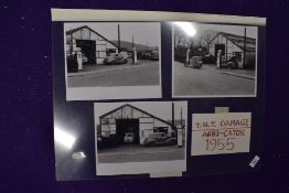 A set of local interest photographic prints for T.N.T garage at Caton dated 1955