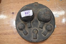 A vintage motor car or cycle spare bulb carry case