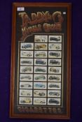 A set of collectable cigarette cards for Motor Cars by Taddy Myrtle Grove