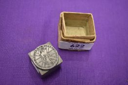 A stationary ink stamp for the British League of Racing Cyclists