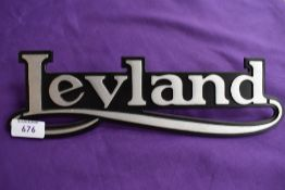 A new old stock Leyland badge.