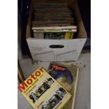 A selection of vintage motor cycle caravan and motor car magazines 60's and 70's interest