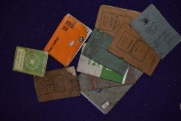 A selection of vintage ephemera and instruction manuals for Morris motor cars