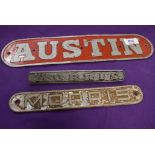 A selection of Austin Morris car or truck badges