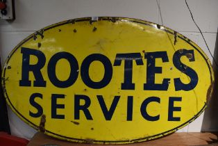 A genuine garage advertising sign for Rootes Service 120cm x 71cm