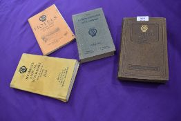 A selection of ephemera and instruction manuals for AA road side assistance