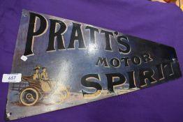 A modern Pratts motor spirit sign