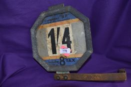 A vintage garage petrol pump price sign for BP British Petroleum and Shell Mex