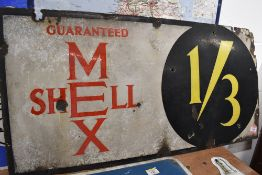 A genuine Vintage enamel advertising sign for Shell Mex