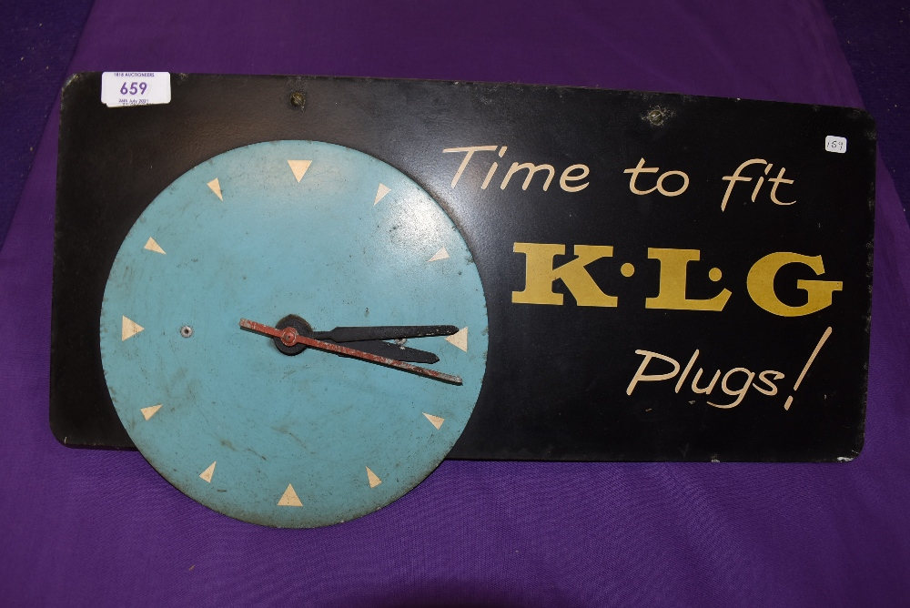 A K.L.G Spark plugs clock.