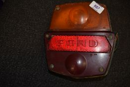 A vintage Ford motor car or truck rear light or lamp