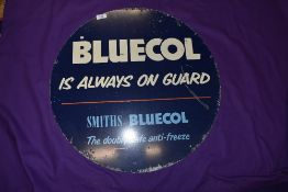 A genuine double sided garage sign for Bluecol Smiths Anti-freeze