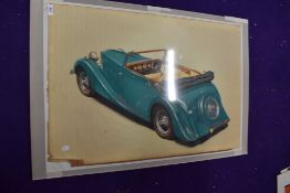 A reproduced print after Hanking concept car an art deco style