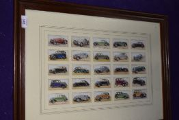 A set of collectable cigarette cards for Motor Cars by John Players