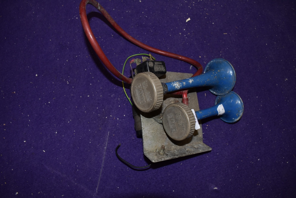 A vintage motor car or race car Fiamm air horn series 2000