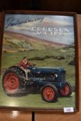 A framed and glazed Fordson Major tractor