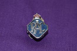 An RAC lapel badge.