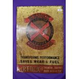 A genuine vintage tin sign for Redex Engine Oil 44cm x 64cm light rusting but otherwise good