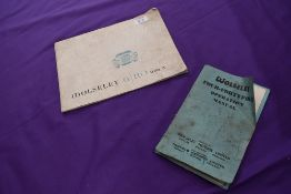 Two instruction manuals for Wolseley Motors