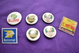 A quantity of Petrol lapel badges.