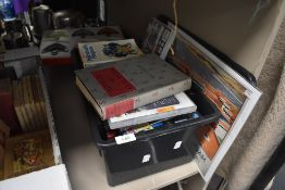 A selection of DVD's video tapes and books including Storeys of Lancaster and repro poster prints
