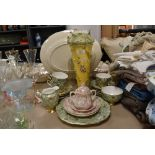A selection of ceramics including a chintz part tea service by Imperial Royal Crown