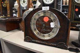 A mid century mantel clock