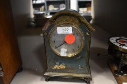 A decorated clock body