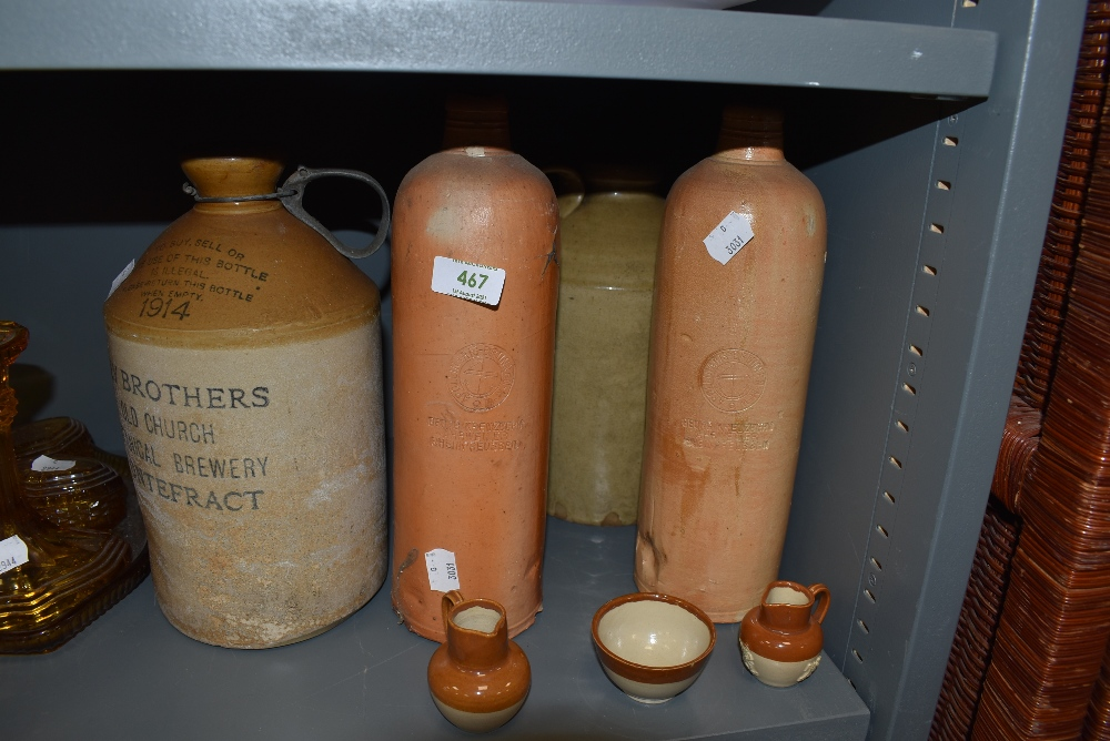 A selection of stoneware bottles and local Hey Brother Botanical flagon