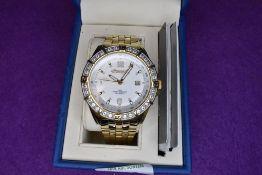 A gent's Ingersoll Gems Pilot IG0345IP automatic wrist watch having stone set bezel and gold