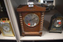 Vintage oak cased clock