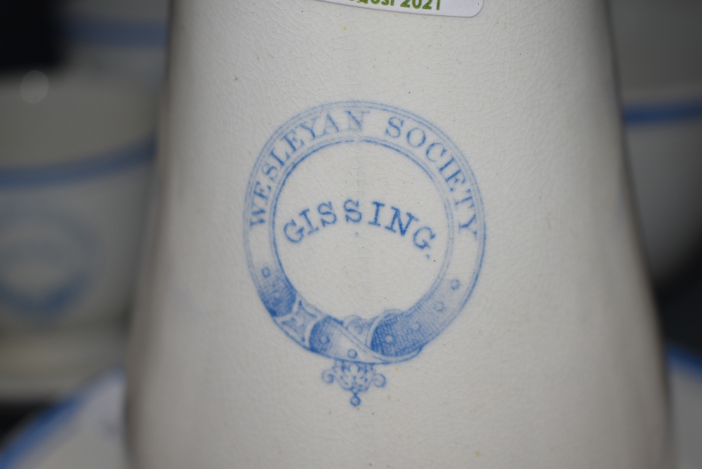 A selection of Victorian transfer printed ceramics for the Wesleyan society Gissing - Image 2 of 2
