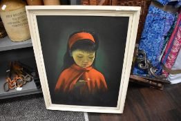 A mid century kitsch print of Daisy Girl after S Pearson