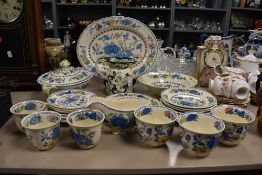 A selection of tea and dinner wares by Masons in the Regency design including tureen charger etc